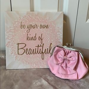 Lovely Pink Bow Clutch